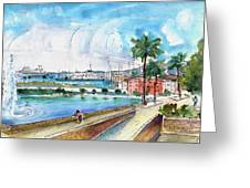 Palma De Mallorca Panoramic 01 Greeting Card