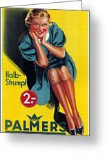 Palmers - Halb-strumpf - Vintage Germany Advertising Poster Greeting Card
