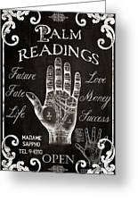 Palmistry sign vintage style poster by mindy sommers palmistry sign vintage style greeting card m4hsunfo