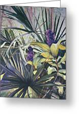 Palms And Hyacinths Greeting Card