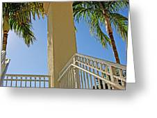 Palms And Stairs Greeting Card