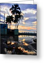 Palms And Sunshine Greeting Card