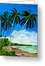 Palms By The Ocean Greeting Card