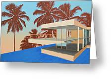 Palms On The Edge Greeting Card