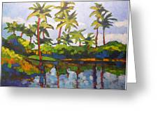 Palms Reflections Greeting Card