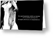 Palomino Art Quote Greeting Card