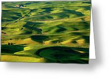 Palouse Contours Greeting Card by Mike  Dawson