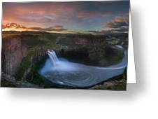 Palouse Falls Sunrise Greeting Card