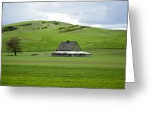 Palouse Old Barn Greeting Card