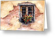 Pampa Window Greeting Card by Sam Sidders