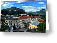 Pamramic Of Salzburg  Greeting Card