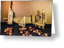 Pan Flutes And Buckeyes Greeting Card