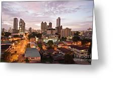 Panama City At Night Greeting Card