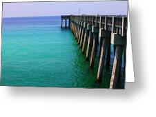 Panama City Beach Pier Greeting Card by Toni Hopper