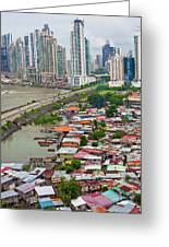 Panama City Greeting Card by Iris Greenwell