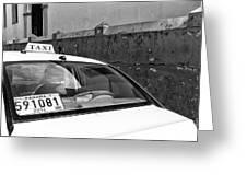 Panama City Taxi Mono Greeting Card