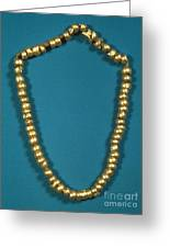 Panama: Gold Beads, C1000 Greeting Card
