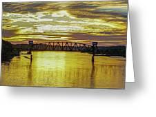 Panaroma Katy Bridge Greeting Card