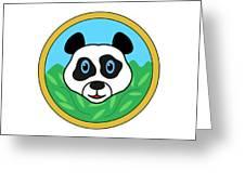Panda Bear Head Greeting Card