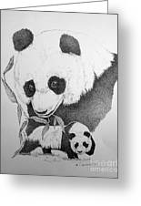 Panda Collage Greeting Card