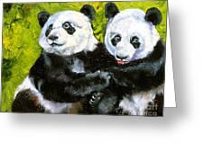 Panda Date Greeting Card by Susan A Becker