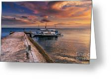 Pandanon Island Sunset Greeting Card