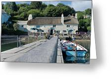 Pandora Inn Cornwall Greeting Card