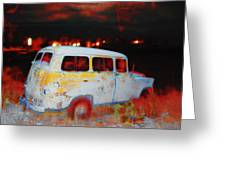 Panel Truck  Greeting Card