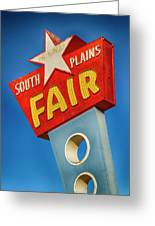 Panhandle South Plains Fair Sign Greeting Card
