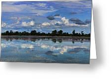 Pano Cambodia Lake  Greeting Card