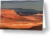 Panorama Dawn Light On The San Rafael Swell Utah Greeting Card
