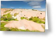 Panorama In Cappadocia Greeting Card