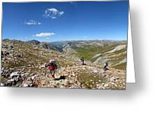 Panorama Looking Down Elk Creek From The Continental Divide - Weminuche Wilderness Greeting Card