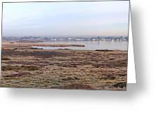 Panorama Of Christchurch Harbour Greeting Card
