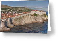 Panorama Of Dubrovnik, Croatia, In The Afternoon Greeting Card