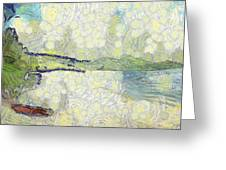 Panorama Of Landscape Greeting Card