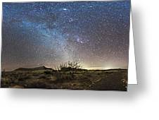 Panorama Of Milky Way And Zodiacal Greeting Card