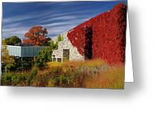 Panorama Of New Modern Building At Toronto Botanical Garden In E Greeting Card