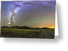 Panorama Of The Milky Way And Night Sky Greeting Card