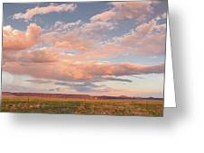 Panorama Of Twilight Clouds Over Tetilla Peak Recreation Area - Cochiti Lake New Mexico Greeting Card