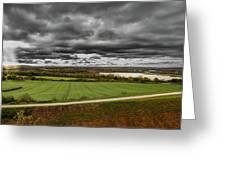 Panorama Of Wakefield's Fields Greeting Card