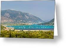 Panorama On Greek Island Greeting Card