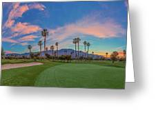 Panorama Palm Springs Golfing Greeting Card