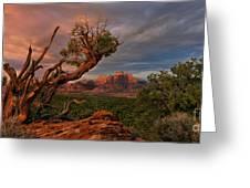Panorama Storm Back Of Zion Near Hurricane Utah Greeting Card