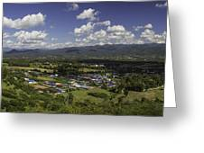 Panorama View Point Of Pai   Greeting Card