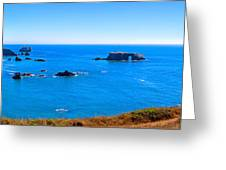 Panoramic California Coast Greeting Card