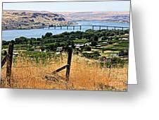 Panoramic Columbia River  Greeting Card