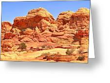 Panoramic Coyote Buttes Landscape Greeting Card