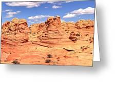 Panoramic Desert Landscape Fantasyland Greeting Card