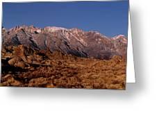 Panoramic Moon Set Alabama Hills Eastern Sierras California Greeting Card